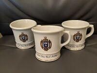Lot of 3 Vintage United States NAVAL ACADEMY Coffee Mugs Cup Army Navy Mug US