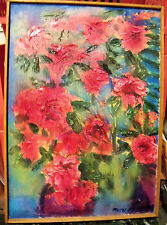 """""""ROSES"""" by Ruth Freeman ACRYLIC ON STRETCHED CANVAS 14 1/2"""" X 20 1/2"""""""