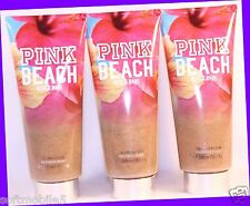 3 Victoria's Secret PINK BEACH BABE Tiare Flower & Musk 2-in-1 Wash Scrub Tube