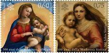 2012 Raffaello: la Madonna di Foligno e la Madonna Sistina - Vaticano - serie 2v