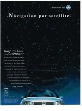 PUBLICITE  ADVERTISING   1998    VOLKSWAGEN   GOLF CABRIO