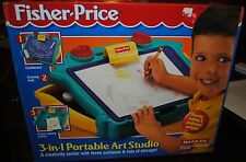 FISHER PRICE RARE 3-IN-1 PORTABLE ART STUDIO ONLY 1 ON E-BAY MINT NEW IN BOX