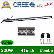 "SLIM 41"" 200W CREE Single Row Led Light Bar Combo Offroad Truck 4WD 3D LEN 40/42"