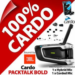 Cardo PACKTALK BOLD JBL 40mm Speakers Bluetooth Motorcycle Helmet Intercom 2020