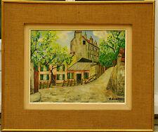 Au Lapin Agile Montmartre Tableau Original 1950 J Gigou