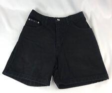 Cest Toi Women High wasist mom Black Denim Jean shorts Junior size Small EUC~ AJ