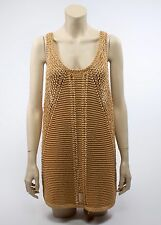 H&M CONSCIOUS Gold Tank Top in Heavy Knit, SIZE L