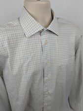 Nautica Men's Dress Shirt Size 16 - 34/35 Non Iron Checked L/S Button Front