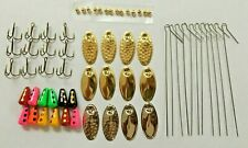 60 Pcs Inline Spinner Making Kit Trout Crappie Bass Spinners DIY 1/4 OZ Lure