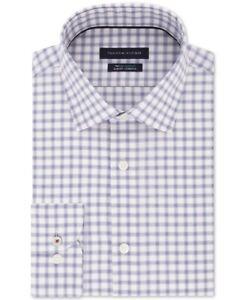 Tommy Hilfiger Mens Dress Shirt Classic Blue Size 15 Slim Fit Stretch $79- 039