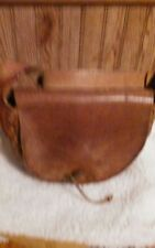 Vintage leather tooled hippie Purse circa 1970's