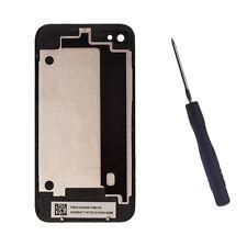 NEU Akkudeckel Rückseite Backcover Glas mit Werkzeug für Apple iPhone 4 Schwarz