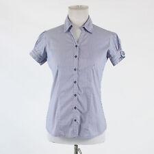 Blue & white striped cotton blend AUSTIN REED short sleeve button down shirt S