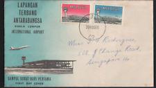 Malaya FDC Cds Singapore Malaysia 1965 international Airport
