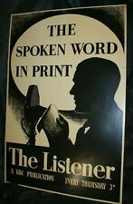 Large vintage tin advertising sign - The Listener