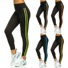 Leggings Trainingshose Sporthose Leggins Fitness Slim Fit Sport Damen BOLF Motiv