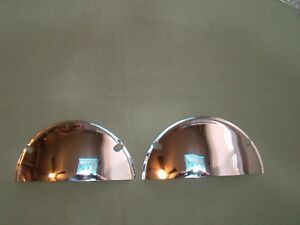 7 inch stainless steel half moon headlight visors eye lids 7 inch visors covers