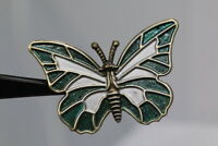 Gorgeous Large Metall-Zierknopf - Butterfly - Probably Ab
