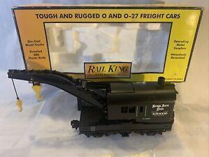 MTH RailKing 30-7919 Nickel Plate Road Operating Crane Car #50009 New O Gauge