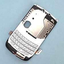 100% Original Blackberry 9800 Torch medio Teclado Marco + Flex + Top Botones Blanco