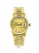 VINTAGE ROLEX PRESIDENT DAY DATE OYSTER 18038 WRISTWATCH 18K YELLOW GOLD c1984