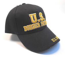 CTS US Border Patrol embroidered adjustable vented BLACK ball CAP hat