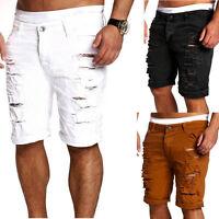 Fashion Mens Ripped Denim Pants Slim Skinny Straight Jeans Trousers Shorts