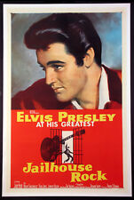 JAILHOUSE ROCK ELVIS PRESLEY 1957 1-SHEET LINENBACKED