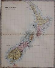 1884 LETTS MAP NEW ZEALAND NORTH & SOUTH ISLANDS OTAGO STEWART ISLAND