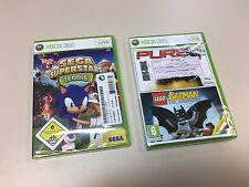 2 Games XBOX 360 New and Sealed - Sega Superstar Tennis and Lego Batman