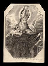 santino incisione 1600 S.AGOSTINO collaert
