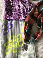 Lot Of 3 Scarves With Silver Charm