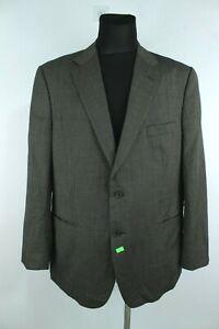 MARS & SPENCERS Grey Wool Button Up Men Blazer Jacket Size EU M