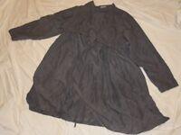 Bluse Überwurf Tunika Shirt XXL XL 46 48 Seide Cocon Commerz Privatsachen Jacke