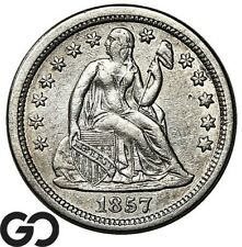 1857 Seated Liberty Dime, Collector Type Silver 10c