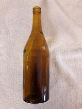 Ancienne bouteille de bière Grandes brasserie de Chalon sur Saône - verre souflé