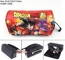 Dragon Ball Z Canvas Pencil Case portable travel Makeup bag penbag new