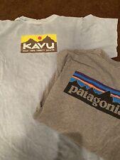 Patagonia Kavu Men's T-shirt Lot Size Medium M shirt heather grey Blue Teal