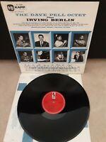 """The Dave Pell Octet Plays Irving Berlin Vinyl 12"""" LP Kapp Records KL 1036 1957"""