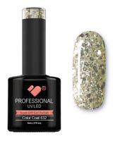 632 VB™ Line Transparent Silver Glitter - UV/LED soak off gel nail polish
