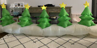 Gemmy Airblown Inflatable Christmas Tree Pathway 12 Ft