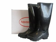 HAVAIANAS HELIOS BLACK MAN MADE WELLINGTON BOOTS SIZE 6