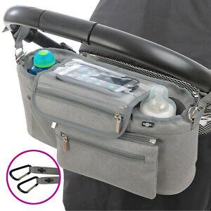 BTR Buggy Organiser Pram Caddy Bag with Detachable Purse & Mobile Phone Holder