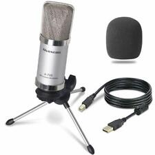 Recording Microphone Laptop Podcasting Mic Unidirectional Condenser