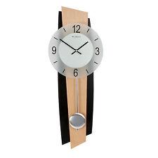 Modern Beech Wood Pendulum Wall Clock