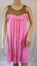 ★ ROBERTA SCARPA ★ 36 (It. 42) ~ pink schwarz ~ Shirtkleid Kleid ~ Exklusiv  NEU