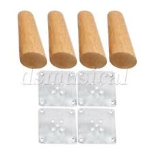 4x Wood Color Oblique Tapered Furniture Leg for Sofa Cabinet 12cm Height