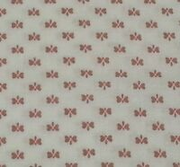 "1 yd 30"" Calico Butterfly Print from Closed Quilt Shop Dark Dusty Pink on Ivory"