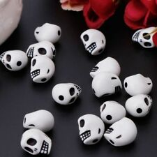 60pcs Skull Head Loose Beads For DIY Bracelet Necklace Making Charm Jewelry