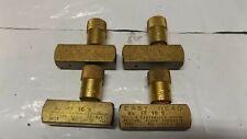 (4) brass Easy Read Ef-10-B air Pneumatic Hydraulic flow control valve 1/8 npt